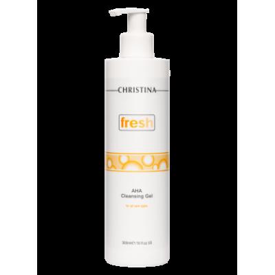 FRESH AHA CLEANSING GEL FOR ALL SKIN TYPES, PH 2,6-3,6 Очищающий гель с фруктовыми кислотами для всех типов кожи, 300 мл
