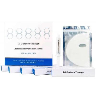 DJ Carborn therapy CO2 для лица и шеи (1 набор на 5 процедур (5 масок, 5 гелей)