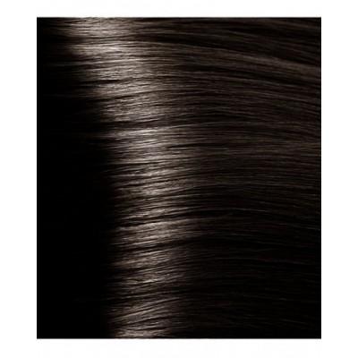 HY 4.07 Коричневый натуральный холодный, крем-краска для волос с гиалуроновой кислотой, 100 мл