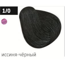 OLLIN performance 1/0 иссиня-черный 60мл перманентная крем-краска для волос