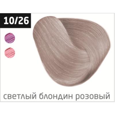 OLLIN performance 10/26 светлый блондин розовый 60мл перманентная крем-краска для волос