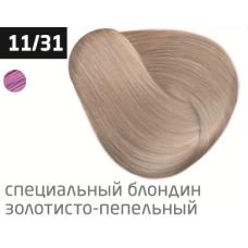 OLLIN performance 11/31 специальный блондин золотисто-пепельный 60мл перманентная крем-краска для волос
