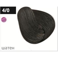 OLLIN performance 4/0 шатен 60мл перманентная крем-краска для волос