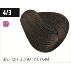 OLLIN performance 4/3 шатен золотистый 60мл перманентная крем-краска для волос
