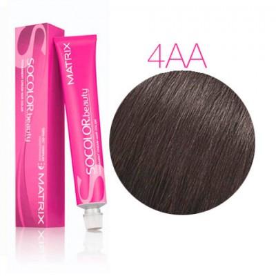 Matrix Socolor Beauty 4AA шатен глубокий пепельный, стойкая крем-краска для волос