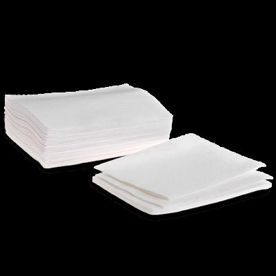 Полотенце из хлопка с тиснением Эконом Белый 35х70 100 шт/уп пластом
