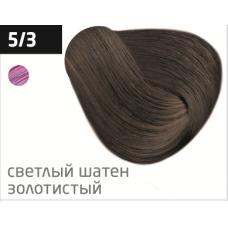 OLLIN performance 5/3 светлый шатен золотистый 60мл перманентная крем-краска для волос