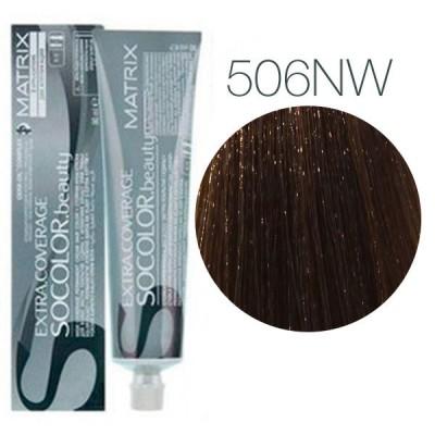 Matrix Socolor Beauty 506NW (Темный блондин теплый натуральный) - Крем-краска для седых волос