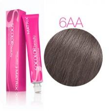 Matrix Socolor Beauty 6AA темный блондин глубокий пепельный, стойкая крем-краска для волос