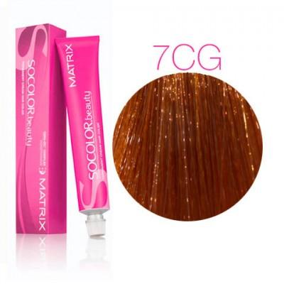 Matrix Socolor Beauty 7CG Блондин медный золотистый, стойкая крем-краска для волос