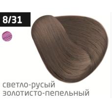 OLLIN performance 8/31 светло-русый золотисто-пепельный 60мл перманентная крем-краска для волос