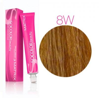 Matrix Socolor Beauty 8W светлый блондин теплый, стойкая крем-краска для волос