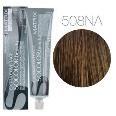 Matrix Socolor Beauty 508NA (Светлый блондин натуральный пепельный) - Крем-краска для седых волос