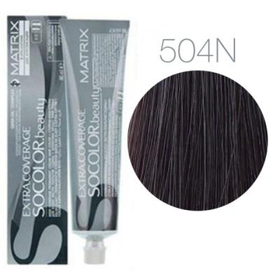 Matrix Socolor Beauty 504N (Шатен) - Крем-краска для седых волос