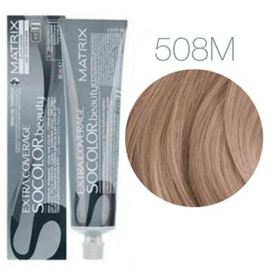 Matrix Socolor Beauty 508M (Светлый блондин мокка) - Крем-краска для седых волос