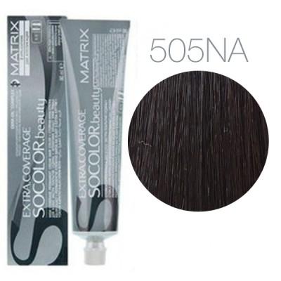 Matrix Socolor Beauty 505NA (Светлый шатен натуральный пепельный) - Крем-краска для седых волос