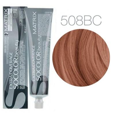 Matrix Socolor Beauty 508BC (Светлый блондин коричнево-медный) - Крем-краска для седых волос