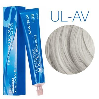 Matrix SoColor Beauty Ultra Light Blondes UL-AV (Пепельно-перламутровый) - Крем-краска для волос