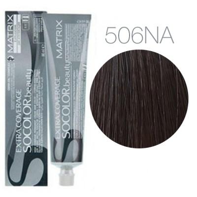 Matrix Socolor Beauty 506NA (Темный блондин натуральный пепельный) - Крем-краска для седых волос