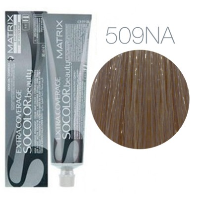 Matrix Socolor Beauty 509NA (Очень светлый блондин натуральный пепельный) - Крем-краска для седых волос