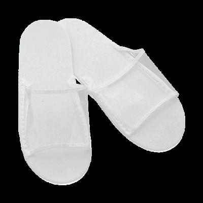 Тапочки для душа одноразовые прозрачный верх Пенопропилен Белые 1 пара/уп