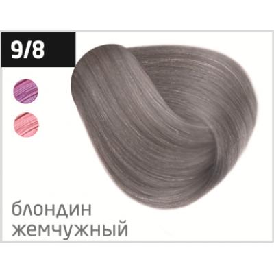 OLLIN performance 9/8 блондин жемчужный 60мл перманентная крем-краска для волос