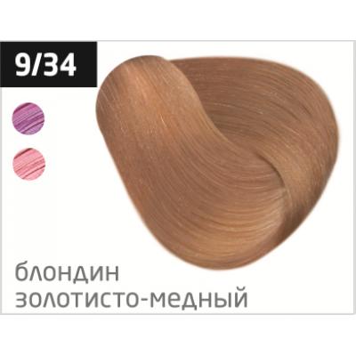 OLLIN performance 9/34 блондин золотисто-медный 60мл перманентная крем-краска для волос