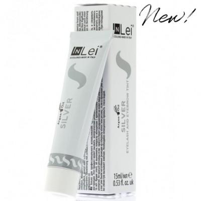 InLei® Краска для ресниц и бровей; цвет: серебристый графит (SILVER). Объем: 15 мл