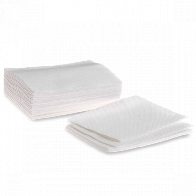 Полотенце из хлопка с тиснением Эконом Белый 35х70 50 шт/уп поштучно