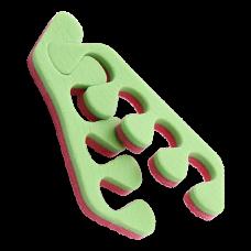 Разделители для пальцев 8 мм Пенопропилен 20 пар/уп Розовый/Салатовый