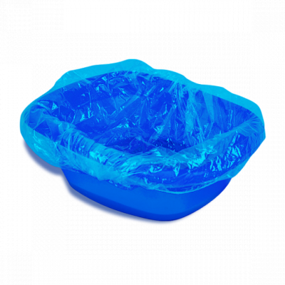 Пакет для педикюрных ванн Полиэтилен Голубой 50х50+20 см 100 шт/уп 1-Touch