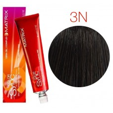 Matrix Color Sync 3N темный шатен, тонирующая краска для волос без аммиака