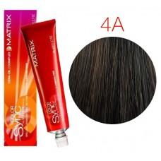 Matrix Color Sync 4A шатен пепельный, тонирующая краска для волос без аммиака