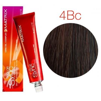 Matrix Color Sync 4BC шатен коричнево-медный, тонирующая краска для волос без аммиака