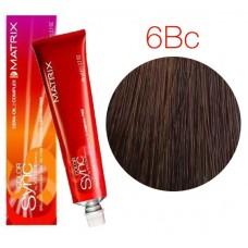Matrix Color Sync 6BC темный блондин коричнево-медный, тонирующая краска для волос без аммиака