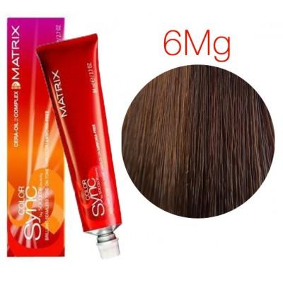Matrix Color Sync 6MG темный блондин мокка золотистый, тонирующая краска для волос без аммиака