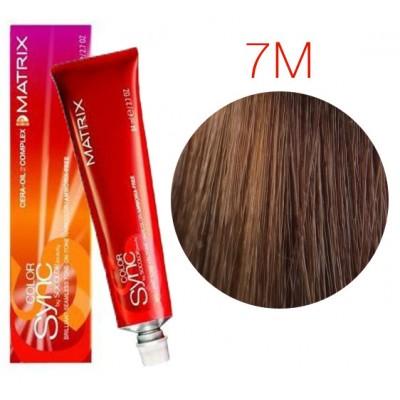 Matrix Color Sync 7M блондин мокка, тонирующая краска для волос без аммиака