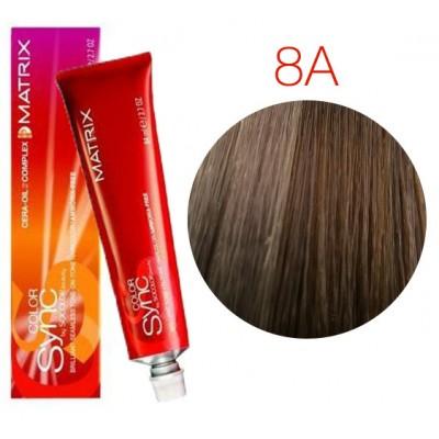 Matrix Color Sync 8A светлый блондин пепельный, тонирующая краска для волос без аммиака