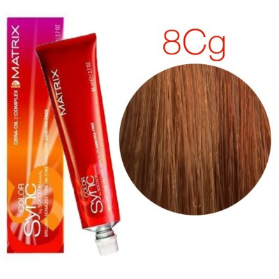 Matrix Color Sync 8CG светлый блондин медно-золотистый, тонирующая краска для волос без аммиака
