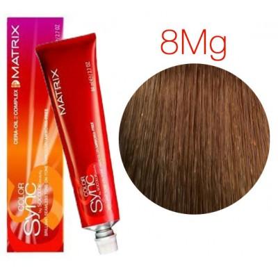 Matrix Color Sync 8MG светлый блондин мокка золотистый, тонирующая краска для волос без аммиака
