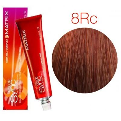 Matrix Color Sync 8RC+ светлый блондин красно-медный, тонирующая краска для волос без аммиака