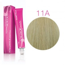 Matrix Socolor Beauty 11A ультра светлый блондин пепельный, стойкая крем-краска для волос