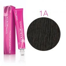 Matrix Socolor Beauty 1A Иссиня-черный пепельный, стойкая крем-краска для волос