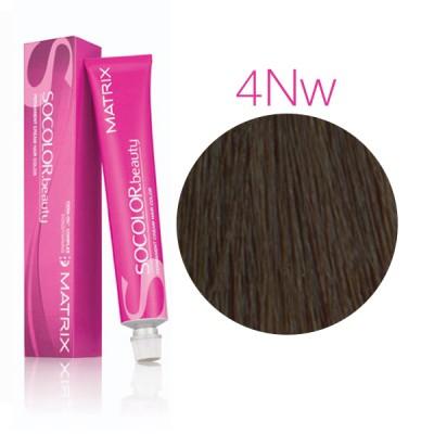 Matrix Socolor Beauty 4NW натуральный теплый шатен, стойкая крем-краска для волос