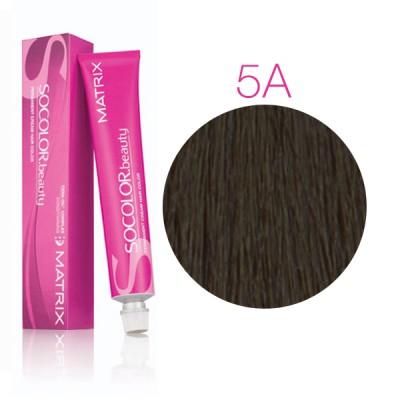 Matrix Socolor Beauty 5A светлый шатен пепельный, стойкая крем-краска для волос