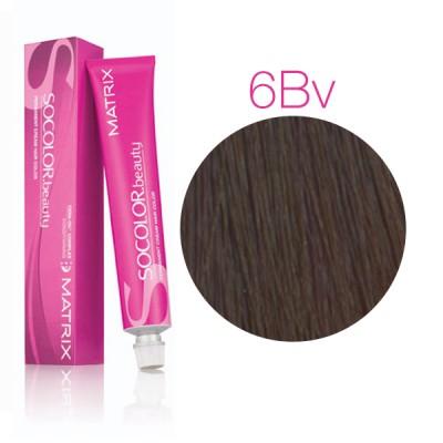 Matrix Socolor Beauty 6BV темный блондин коричнево-перламутровый, стойкая крем-краска для волос