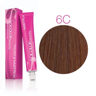 Matrix Socolor Beauty 6C темный блондин медный, стойкая крем-краска для волос