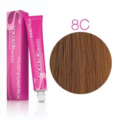 Matrix Socolor Beauty 8C светлый блондин медный, стойкая крем-краска для волос